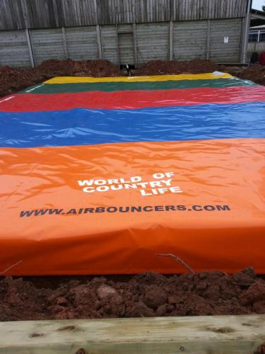 Jumping Pillow Air Bouncer set up