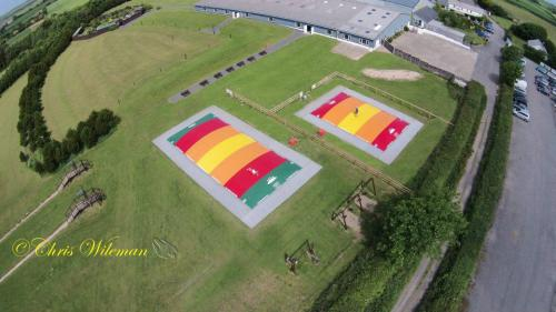 Aerial picture of Jumping Pillows Air Bouncers