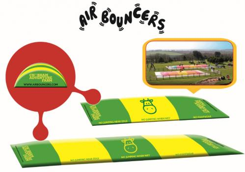 Jumping Pillow Air Bouncer personalised for Chobhan Adventure Farm
