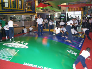 Adults Playing on Air Bouncer